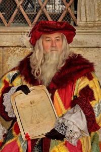 quand René revêt son costume de Léonard, il se prend à être, pendant quelques heures le génial de Vinci