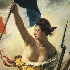 Détail du tableau de Delacroix La liberté guidant le peuple Atelier la colombe