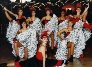 Costumes de French cancan réalisés en 1986