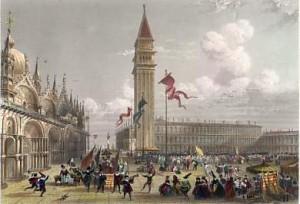 Le Carnaval à Venise 1862 Ch Lalaisse