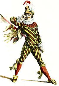 Capitan, d'après Maurice Sand, dans Masques et Bouffons