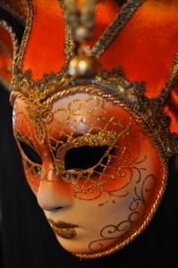 masque vénitien peint à Venise
