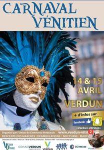 affiche carnaval vénitien Verdun 2018