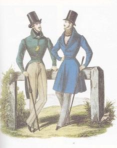 habit de cheval et redingote en 1835