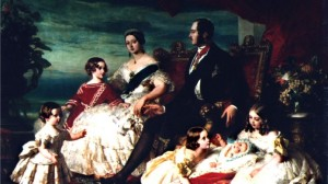 La Reine victoria, le Prince Albert et leurs enfants Peinture Winterhalter en 1846