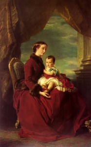 Eugénie portant son fils Louis Napoléon, par Franz Xaver Winterhalter