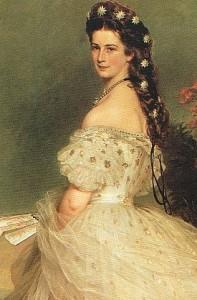 Elisabeth d'Autriche Portrait Winterhalter en 1865