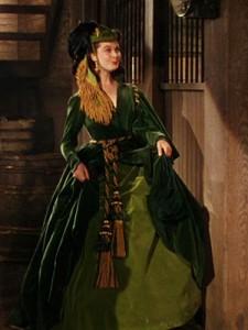Scarlett, la robe verte en velours
