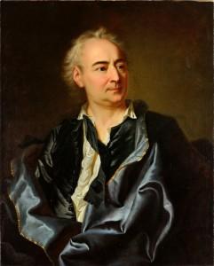 Diderot : chemise à jabot et cravate noire
