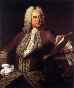 Handel : fin jabot et petite cravate