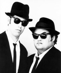 Blues Brothers 1976 : cravate slim et noire