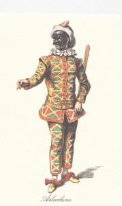 Arlequin, losanges symétriques, fin XVII ème, Maurice Sand 1860