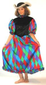 petite arlequine en polyester imprimé, différentes couleurs et tailles