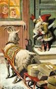 Le lutin de Noël accompagné de sa chèvre