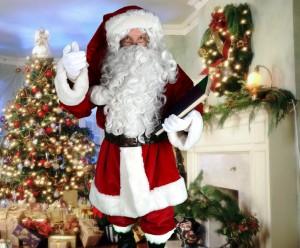 Père Noël Américain, pantalon, veste, ceinturon, bonnet