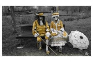 costumes XVIII ème réalisés d'après une gravure ancienne