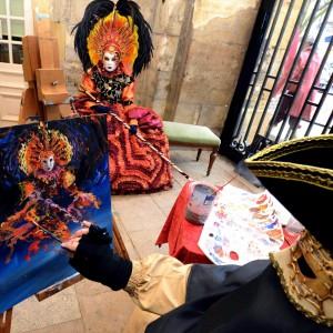 Jean Benoît Dominicy immortalise costumés et carnavaliers