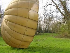 Parachute en soie
