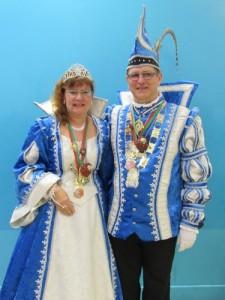 Martine 1ère et Jean Luc 1er couple pricier 2015-2016 du Bouc bleu (costume Atelier la colombe Strasbourg)