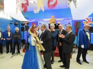 Remise de la Clef des trois ville Carnaval du Bouc Bleu