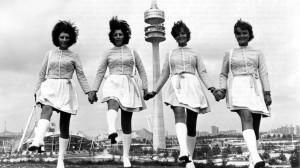 Les hôtesses des Jeux Olympiques de Munich en 1972