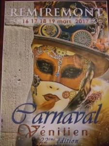Affiche Carnaval vénitien de Remiremont 2017