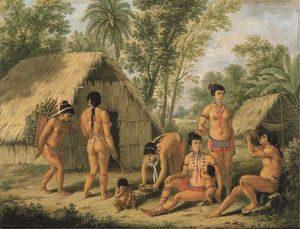 AUGUSTIN BRUNIAS Famille Caraibes à l'ile St Vincent