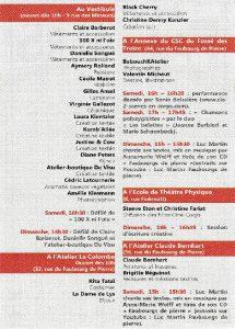 Programme Faubourg des Créateurs 2014