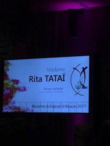 Rita TATAÏ Madame Artisanat d'Alsace 2017