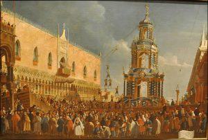 Le jeudi gras au XVIII ème siècle, peinture Gabriele Bella