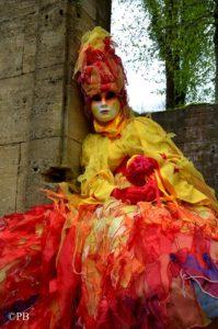 Flamme costume venitien Atelier la Colombe Strasbourg